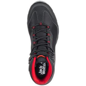 Jack Wolfskin Rock Hunter Texapore Mid Shoes Herren black/red